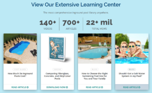 River pools and spas content marketing
